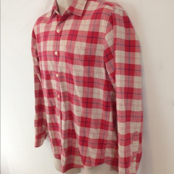J Crew Shirts Mens S Pink Red Plaid Flannel Shirt Poshmark